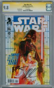 Star Wars #4 CGC 9.8 Signature Series Signed Alex Ross & Brian Wood Darth Vader Dark Horse comic book